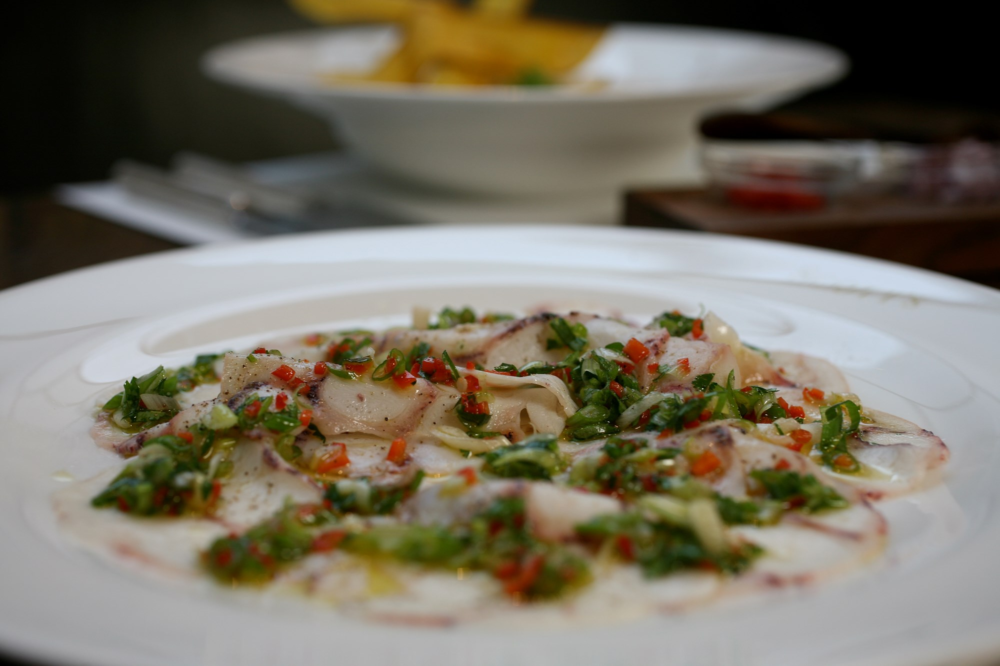 scotts octopus carpaccio