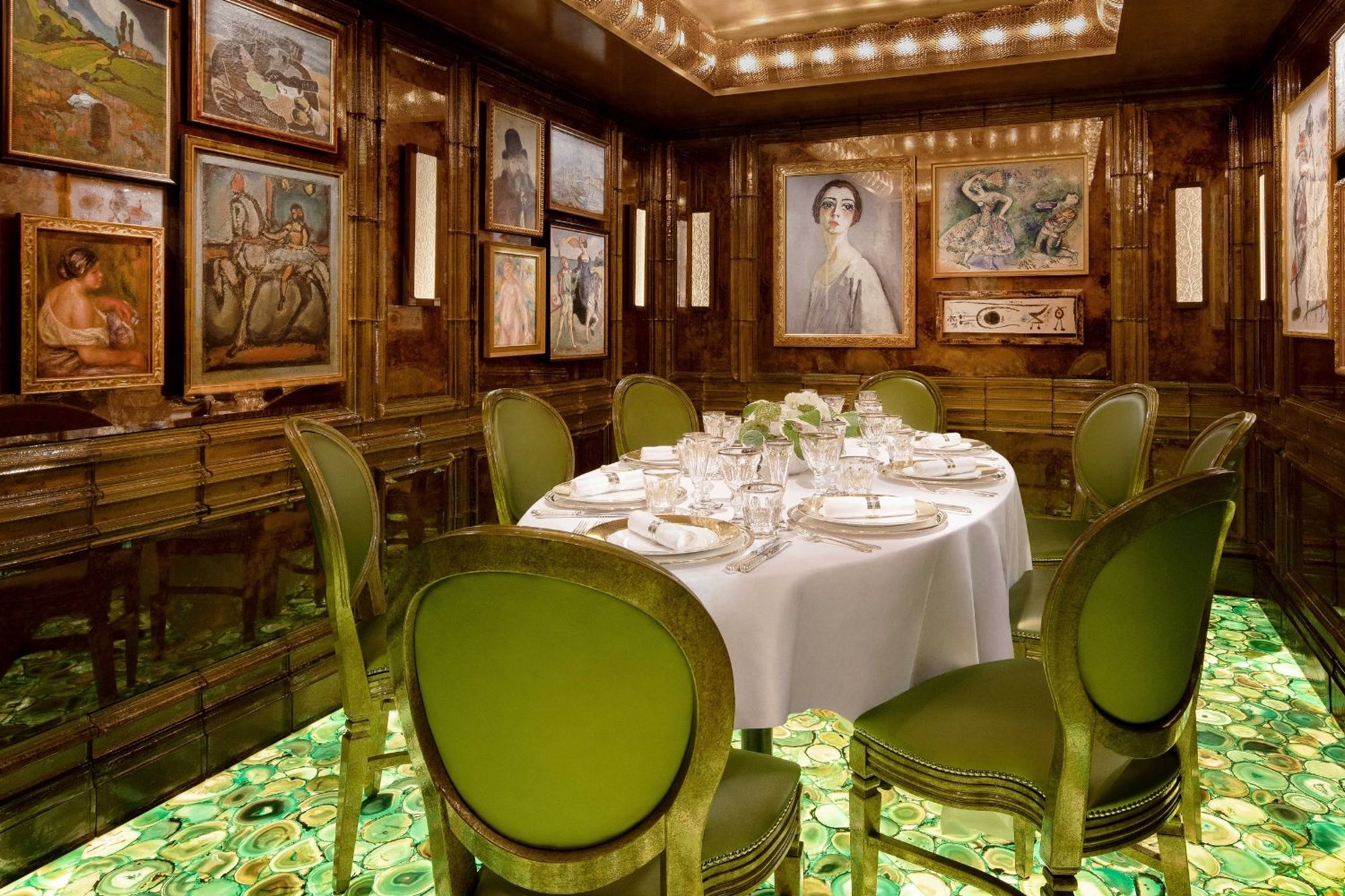 The group dining space at Scott's, a restaurant in Mayfair