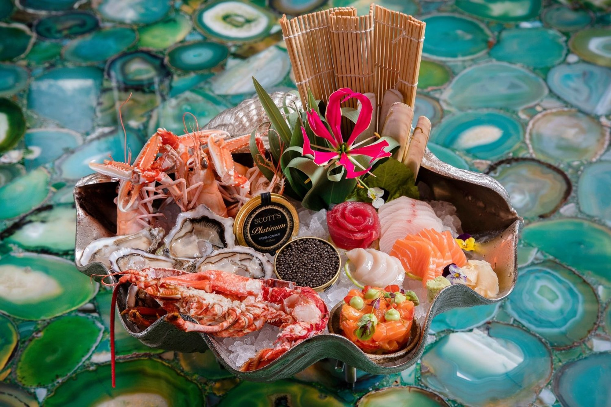 Exclusive seafood platter available for group dining at Scott's, Mayfair